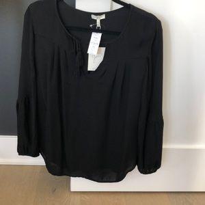 Joie black peasant blouse